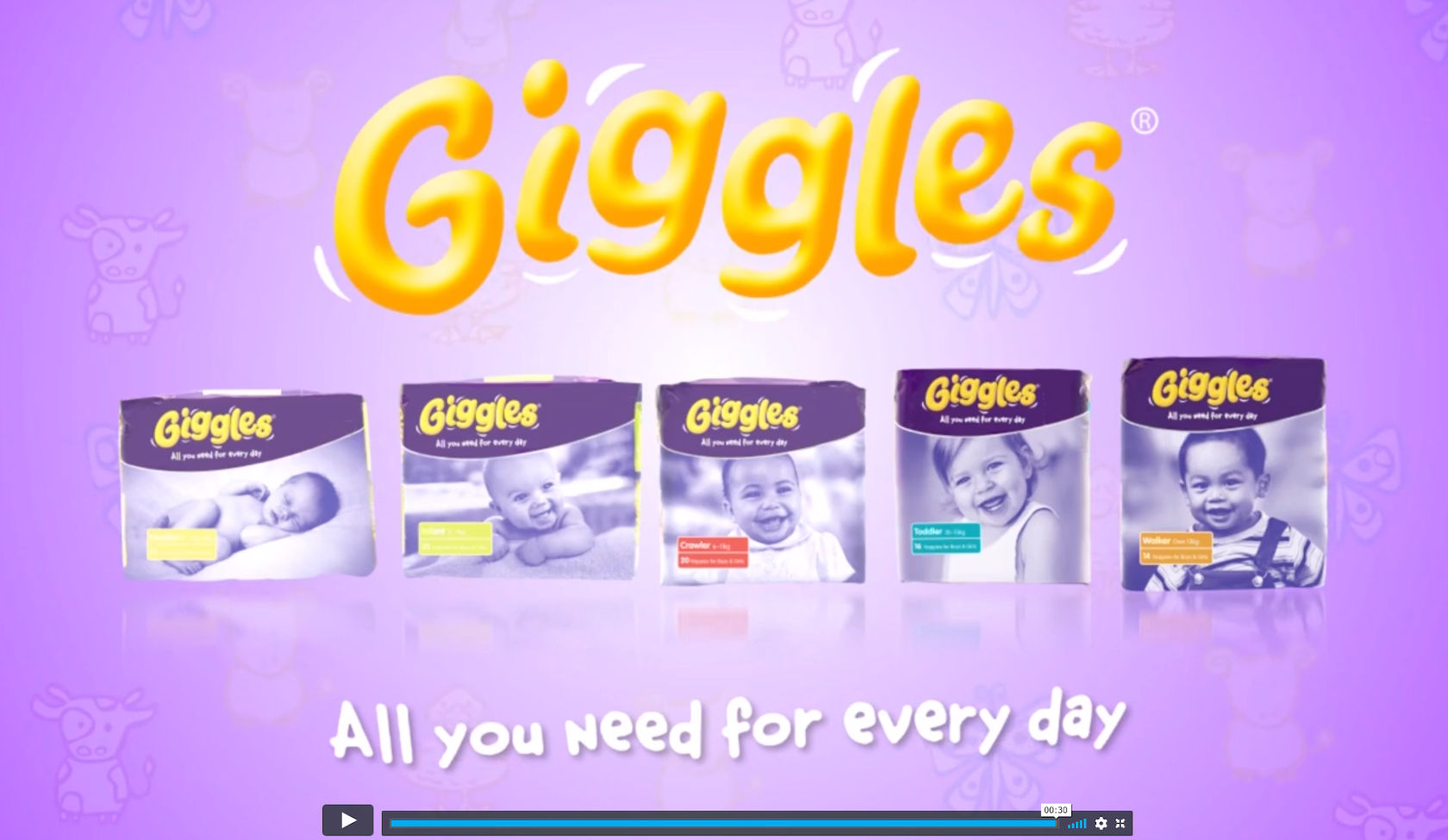 Giggles Diaper Television Commercial
