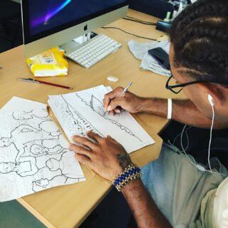 Our artist hard at work! #mokofiji #creative #artistsinfiji #digitalcontentcreator #filmfiji