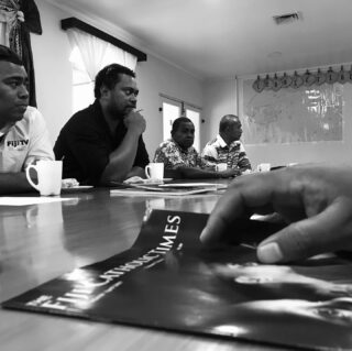 Discussing and mapping a way forward with communications in the Archdiocese of Suva.